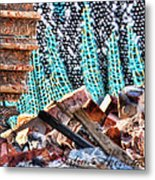 Tracks And Textures Metal Print