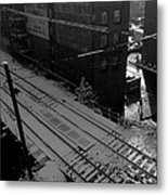Tracks In Snow Metal Print