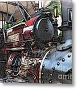 Traction Engine 2 Metal Print