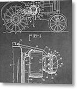 Tractor Patent Metal Print