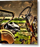 Tractor Seat Metal Print