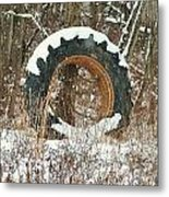Tractor Tire Metal Print