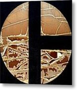 Tractor Triptych Metal Print