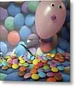 Tracy Felt Like A Real Airhead Surrounded By All These Smarties Metal Print