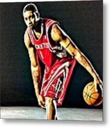 Tracy Mcgrady Portrait Metal Print