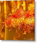 Traditional Christmas Decoration Metal Print by Anna Om