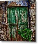 Traditional Door Metal Print by Emmanouil Klimis