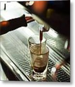Traditional Espresso Coffee And Machine  Metal Print