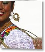 Traditional Ethnic Dancers In Chiapas Mexico Metal Print