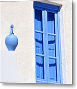 Traditional House In Serifos Town Metal Print