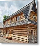 Traditional House In The High Tatra Mountains Poland Metal Print