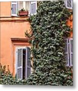 Traditional House Rome Italy Metal Print