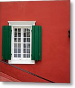 Traditional Red House Metal Print