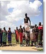 Traditional Samburu Dance Metal Print