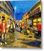 Traditional Shopping Area Metal Print