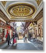 Traditional Shopping Area In Shanghai China Metal Print