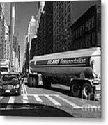 Traffic - New York In Perspective Series Metal Print