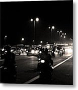 Traffic On Indian Roads Metal Print