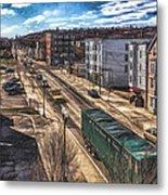 Traffic On Lincoln Street Metal Print