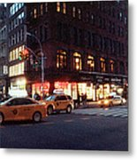 Traffic On The Street At Night, 23rd Metal Print