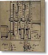 Traffic Signal Patent Metal Print