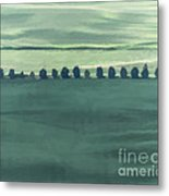 Trail Of Trees Metal Print