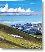 Trail Ridge Road In Rocky Mountain National Park Metal Print