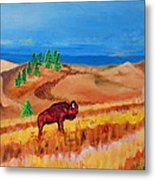 Monarch Of The Plains Metal Print