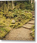 Trail Through The Moss Metal Print