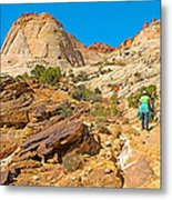 Trail Up To The Tanks From Capitol Gorge Pioneer Trail In Capitol Reef National Park-utah Metal Print