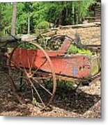 Trailer Flowerbed Metal Print