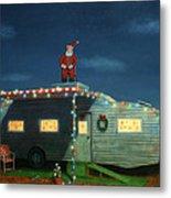 Trailer House Christmas Metal Print
