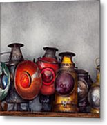 Train - A Collection Of Rail Road Lanterns  Metal Print