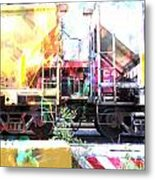Train Abstract Blend 1 Metal Print