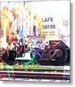 Train Abstract Blend 6 Metal Print