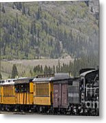 Train Arriving In Silverton Metal Print