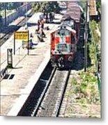 Train At Delhi Station Metal Print