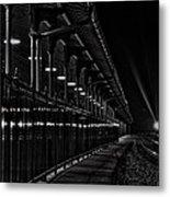 Train At Night Metal Print