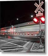 Train Blur  Metal Print