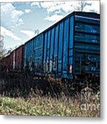 Train Boxcars Metal Print