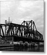 Train Bridge Metal Print