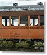 Train Coach Windows Metal Print
