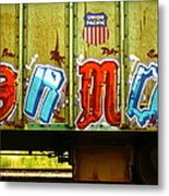 Train Colors Metal Print