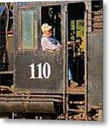 Train Conductor Metal Print