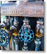Train Controls Metal Print