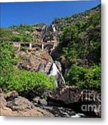 Train Crossing Dudhsagar Falls Metal Print