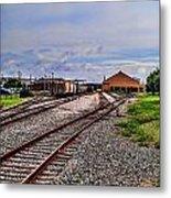 Train Depot Metal Print