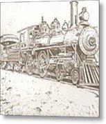 Train Drawing Metal Print