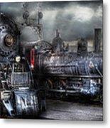 Train - Engine - 1218 - Waiting For Departure Metal Print