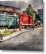 Train - Engine - Black River Western Metal Print by Mike Savad